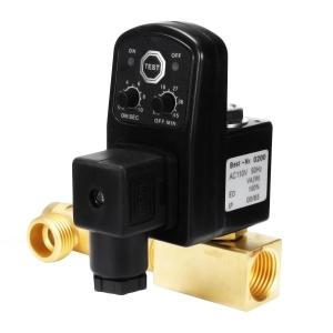 AC 110 V 1/2 Inch 2-weg aftapklep Elektronische getimede luchtcompressor Condensaat Auto Drukschakelaar