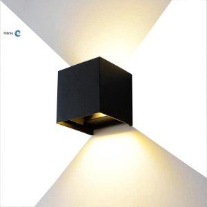 Rilimo® - Kubus Wandlamp - Dimbaar - LED Lamp - Buitenlamp - Wandspot - Up Down Verlichting - Buitenverlichting - Waterdichte LED verlichting - Muurlamp - Badkamer Verlichting