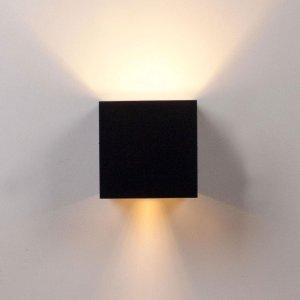 Rilimo®- Wandlamp - Led Lamp - Buitenlamp - Kubus wandlamp - Up Down Verlichting - Buitenverlichting - Waterdichte Ledverlichting - Muurlamp - Badkamer Verlichting - Wandspot