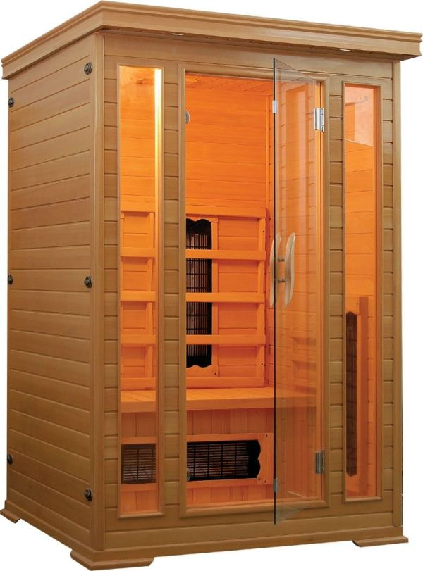 Badstuber Carmen infrarood sauna 120x120cm 2 persoons