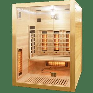 Badstuber Open infrarood sauna 150x120cm 3 persoons