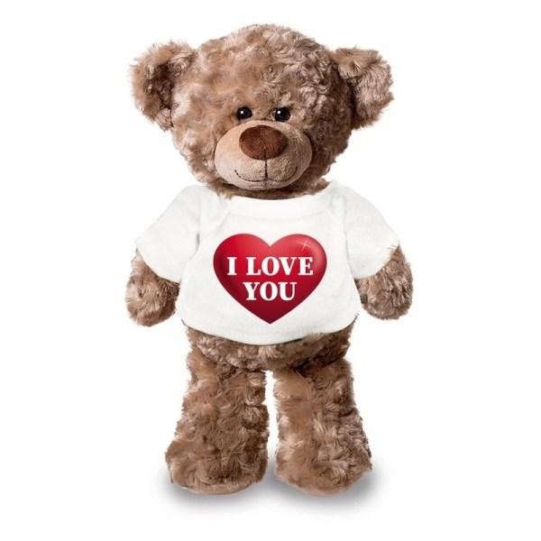 I love you Valentijnsdag knuffelbeer 43 cm