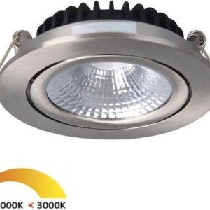 Inbouwspots rond | RVS | 2000K-3000K | dim to Warm | IP54 | badkamer verlichting