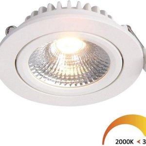 Inbouwspots rond | wit | 2000K-3000K | Dim to Warm | IP54 | badkamer verlichting