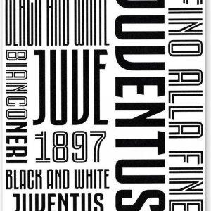 Juventus Muursticker Graphic 2 Stickervellen Zwart/wit