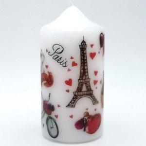 Kaars Parijs, Verjaardag kaars, liefde cadeau, Valentijnsdag kado
