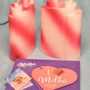 """Piaf kaars """"MORE LOVE"""", het meest romantische geschenk voor Valentijnsdag 2022 - Nu met gratis doos Milka Pralines en een Valentijnsdag geschenkkaartje"""