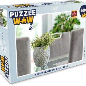 Puzzel 500 stukjes Kamerplant - Kamerplant op een tafel - PuzzleWow heeft +100000 puzzels