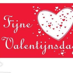 Vlag Fijne Valentijnsdag 200x300