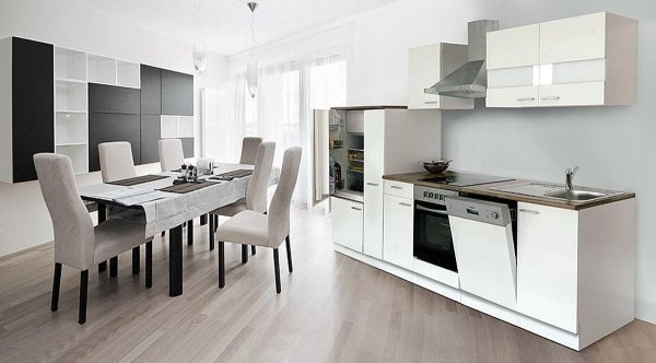 Goedkope keuken Meister 310cm wit met keukenapparatuur