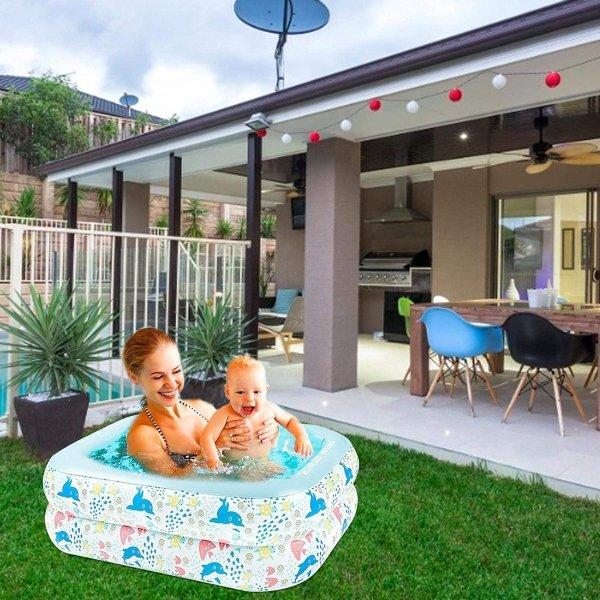 Peuterbad, opblaasbaar zwembad Peuterbad met 3 lagen voor kinderen Waterparty, peuterbad