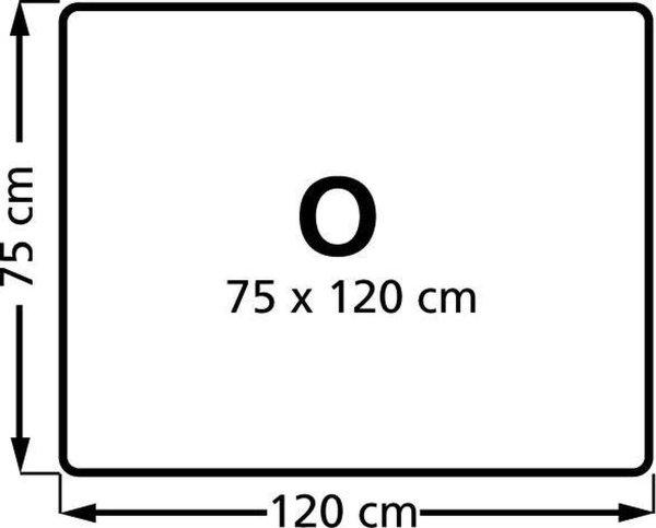Stoelmat Vloermat voor harde vloeren Rechthoek 75x120 cm. PP