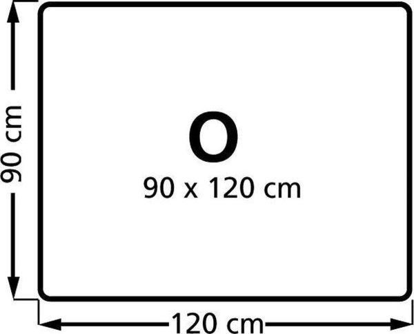 Stoelmat Vloermat voor harde vloeren Rechthoek 90x120 cm. PP