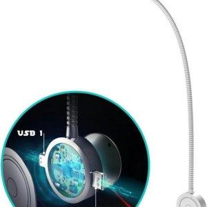 Bolt Electronics® Leeslamp bed met dimfunctie en USB - 1 stuk - leeslamp slaapkamer - hoofdbord bedlamp - leeslamp boxspring - bedleeslamp - bedlamp - flexibel - LED - aluminium - 2x USB