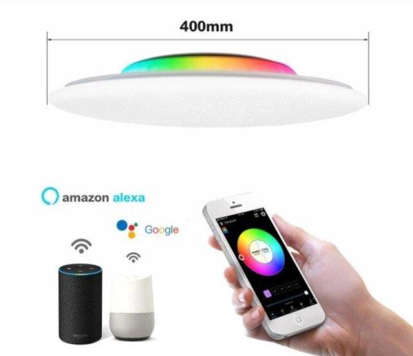 Offdarks® RGB Plafondlamp - Led verlichting - Sterrenhemel - Kinderkamer lamp - Badkamer verlichting - Sierlamp - Gemakkelijk te koppelen met Google en Amazon