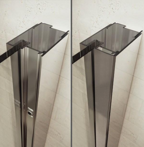 Sealskin Gallery 3000 draaideur r.draaiend 750 mm br 1950 mm hg (met vaste wand, voor comb. met zijwand) mat zilver helder glas + sealglas