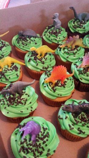 4 Nemme Cupcakes Med Dinosaurusser Alletiders Dag