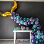 Shimmering Mermaid Tail Balloon Garland Diy Kit 10 Ft Or 15 Ft Includes Everything That You Will Need For Assembly All Events Prints Party Decor