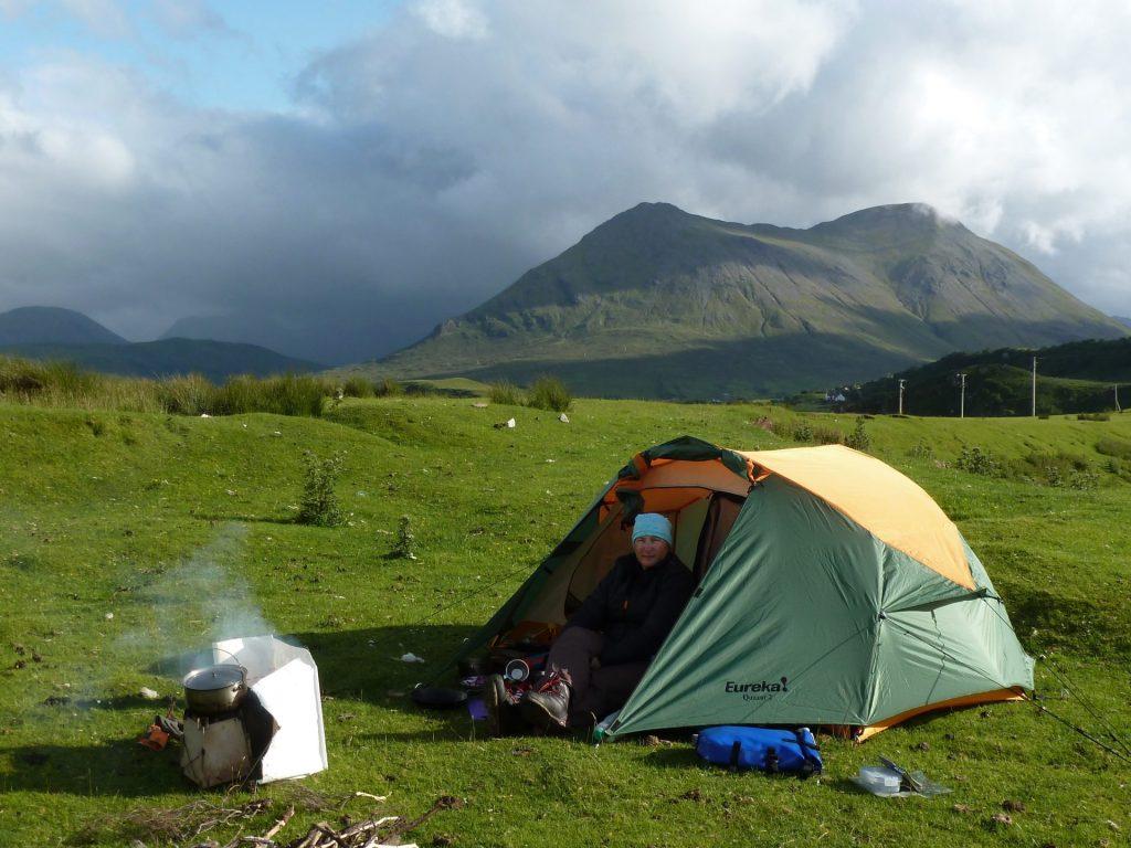 Camping on the Raasay Narrows