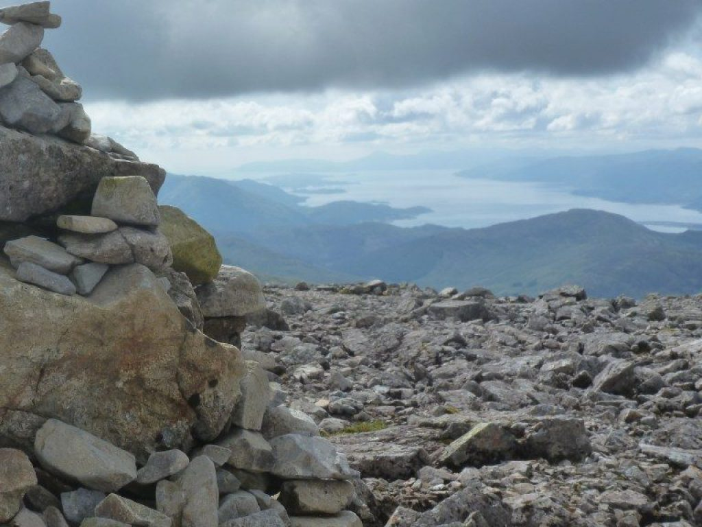 Cairn on top of Ben Nevis