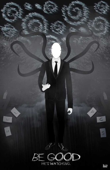 Slenderman Poster in Illustrator