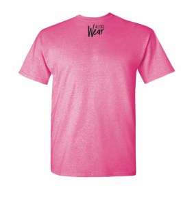 Logo on Back of Been Did It Pink T-shirt