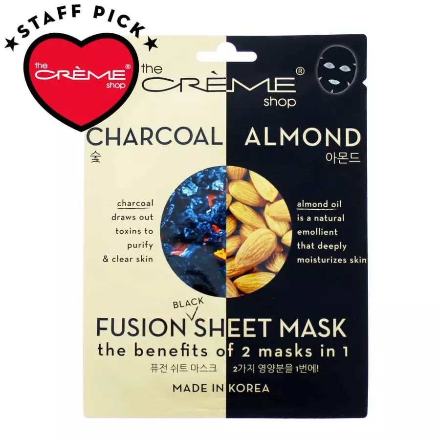 The packaging of The Charcoal & Almond Oil fusion sheet mask