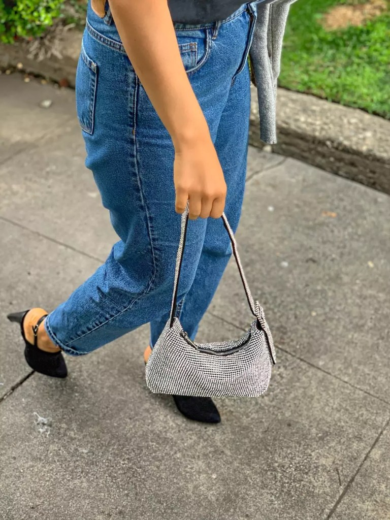 topshop sandals baguette bag