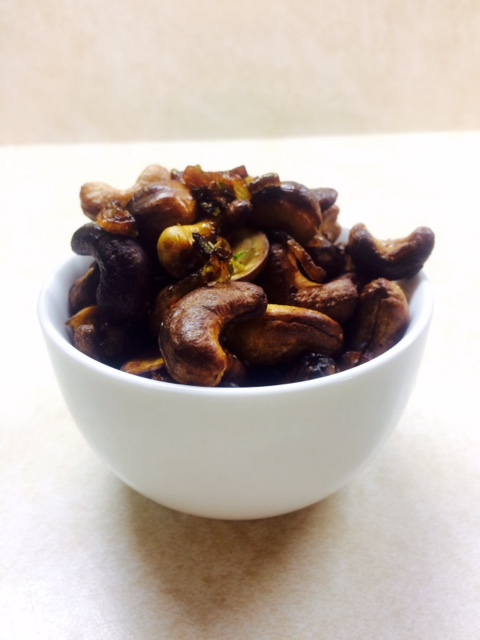 Party Food! Cashews with Shallots and Lime (v, gf) (1/2)