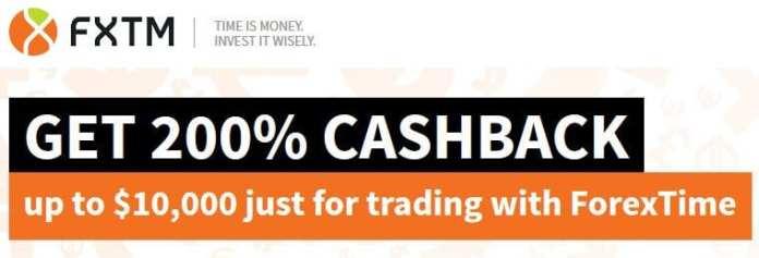 Forex Time 200% Cashback Forex Rebate