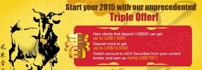 Grab $1500 USD with deposit of $500 USD