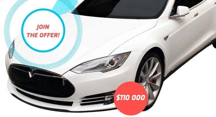Trade & Win a Tesla Super-Car or 110,000 USD Cash