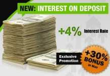 30% Forex bonus margin for all deposits