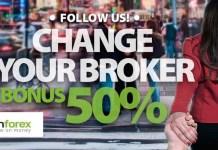 Forex 50% Bonus to Change your Broker