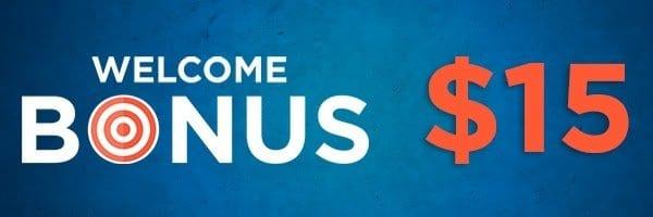 no-Deposit welcome bonus $15