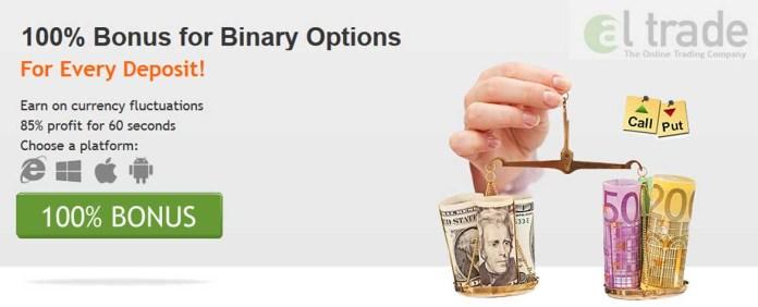 100% Bonus for Binary Options trading