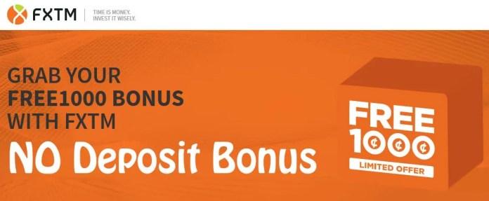 fxtm no deposit Forex bonus