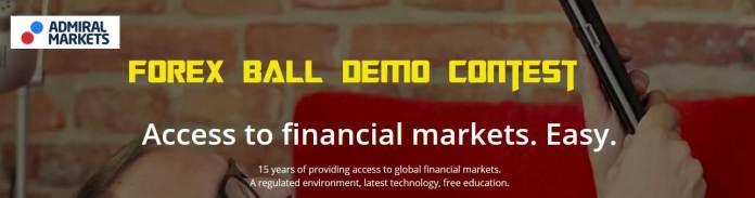 Admiral Markets Forex ball demo contest