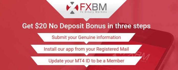 FXBM no Deposit bonus
