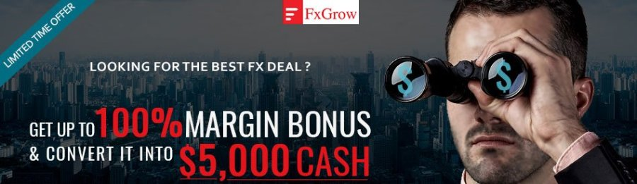 FXGrow Deposit Bonus as Margin