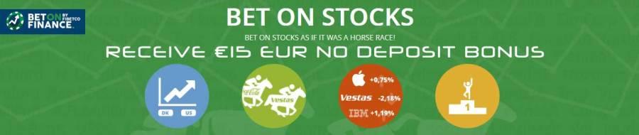 Bet ON Finance €15 EUR NO DEPOSIT BONUS CODE