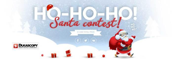 Dukascopy Ho-Ho-Ho Santa contest