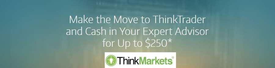 ThinkMarkets Cash Bonus for Expert Advisor