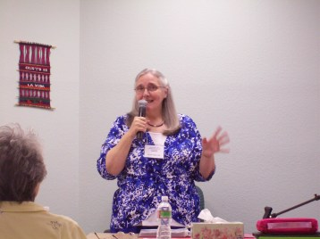Kathy explaining HBH Ministry concepts