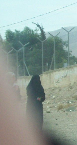 Woman on the street in Jericho