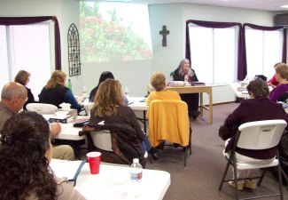 Kathy sharing more about HBH Ministry