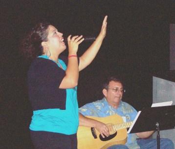 Valerie and Pastor Dick praising God