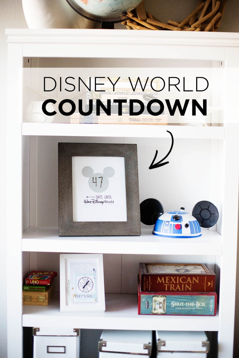 Walt Disney World Vacation Countdown printable. So cute!