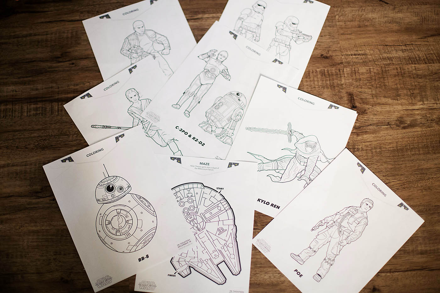 Star Wars Coloring Bookmarks