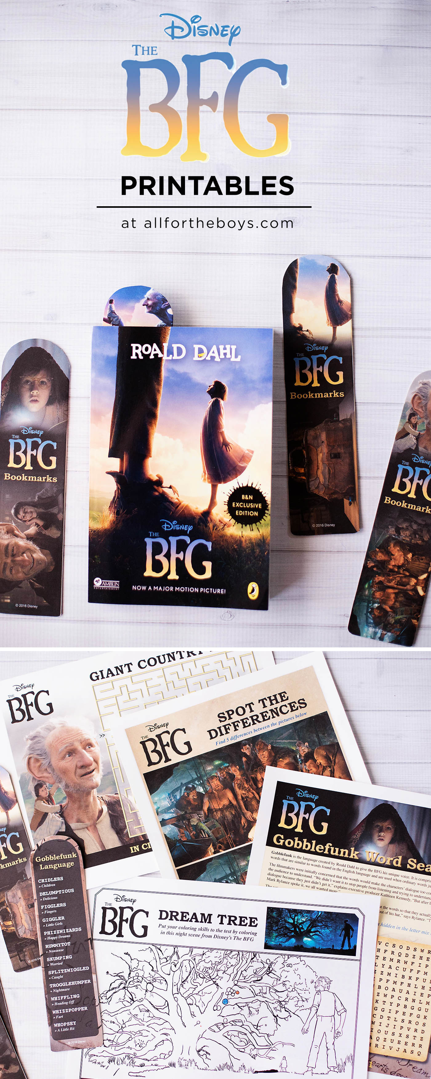 The Bfg Printable Bookmarks Coloring Amp Activity Pages